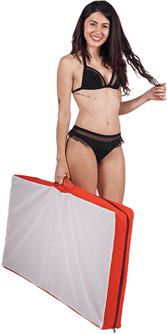 materassino spiaggia imbottito trasportino Pomodone