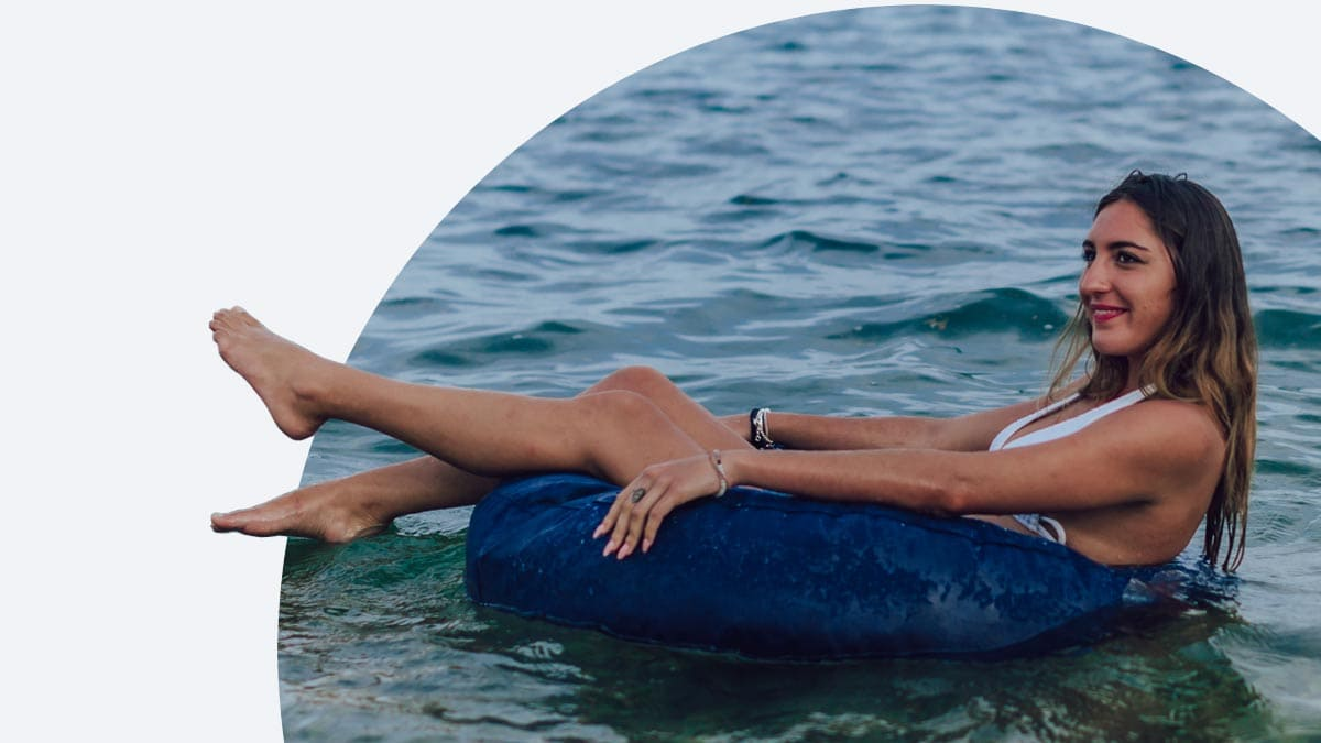 ciambella per piscine personalizzata