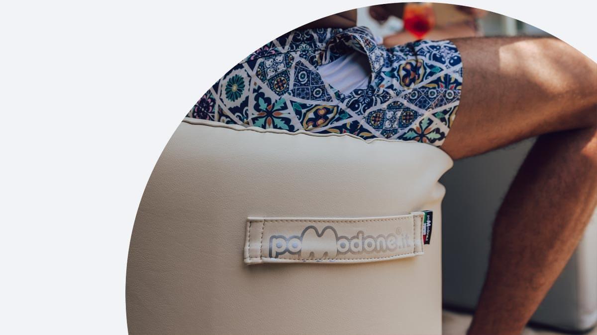 pouf fabric footrest