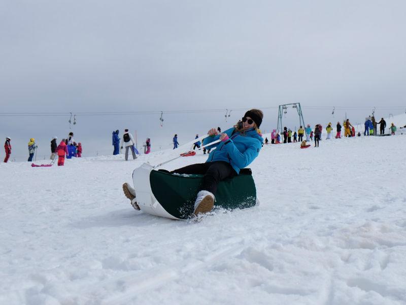 Slitte per divertimento sulla neve